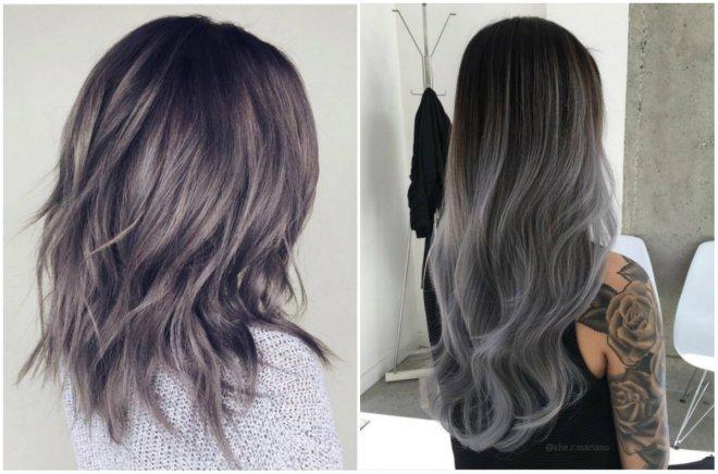 волосы цвета Громбре
