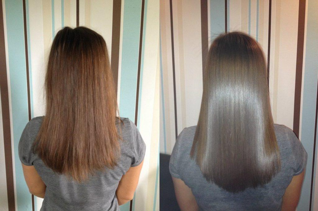 На чистые волосы делать кератиновое выпрямление волос