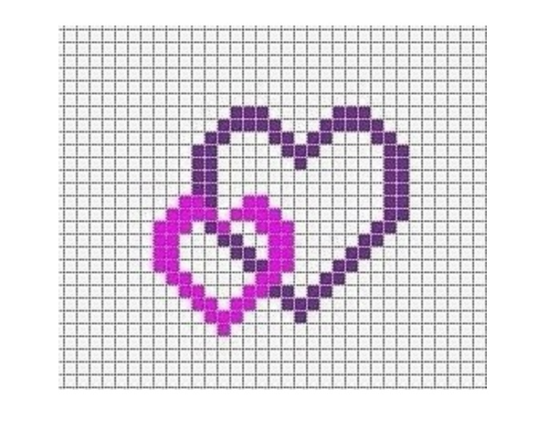 меню картинки по клеточкам красивые и легкие сердечки вид деятельности