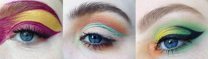 Цветовые схемы теней для глаз