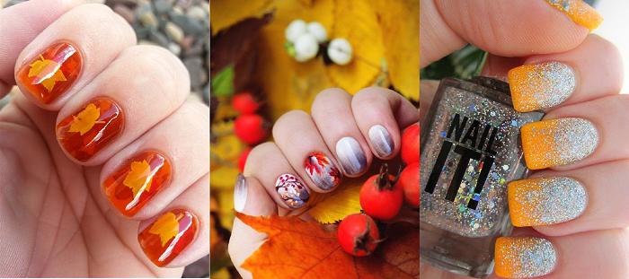 Осенний маникюр, фото и пошаговые инструкции