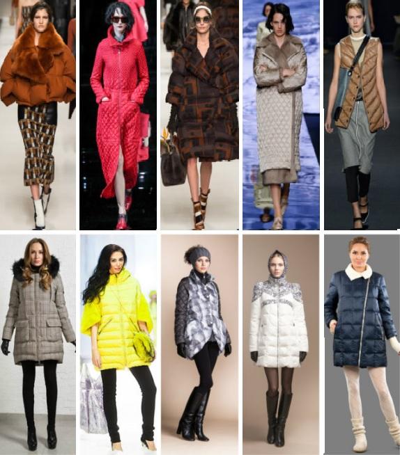 красивая модная зимняя одежда