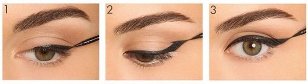 как нарисовать стрелки на глазах на всё веко