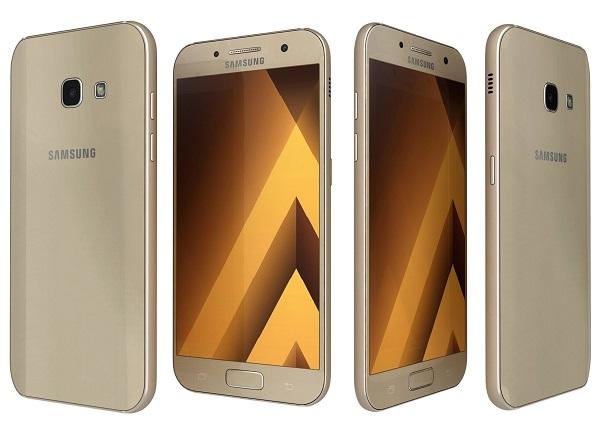 Samsung Galaxy A3 2017 в золотом варианте