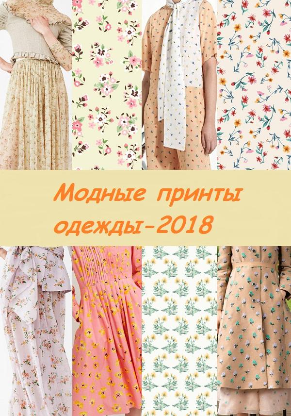Модные принты одежды 2018: интересные цветовые шаблоны