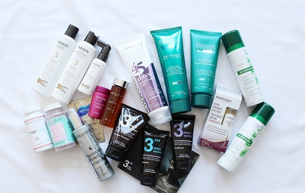 Средства по уходу за волосами из масс-маркета и профессионального назначения