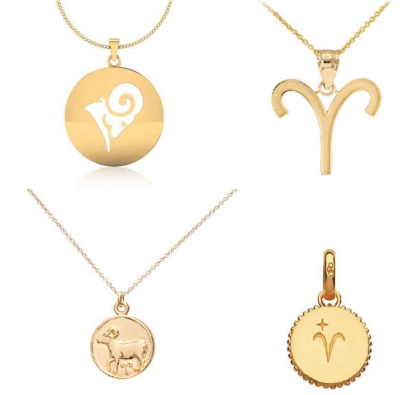 золотые подвески знак зодиака овен
