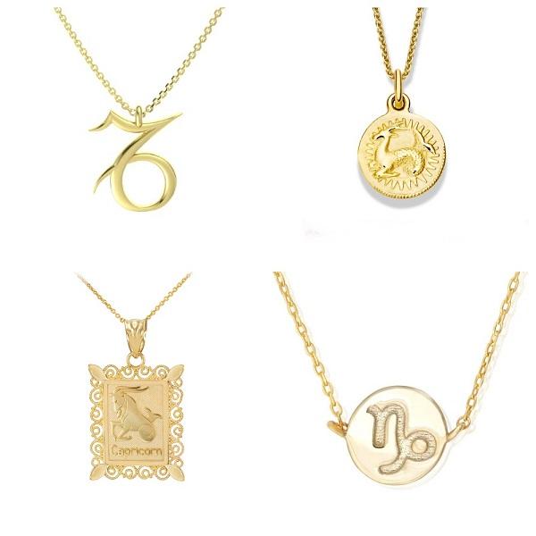Кулоны со знаком зодиака Козерог из золота