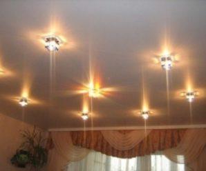 Точечные накладные приборы освещения — создаем уют в доме