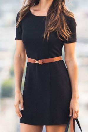 пояс с черным платьем